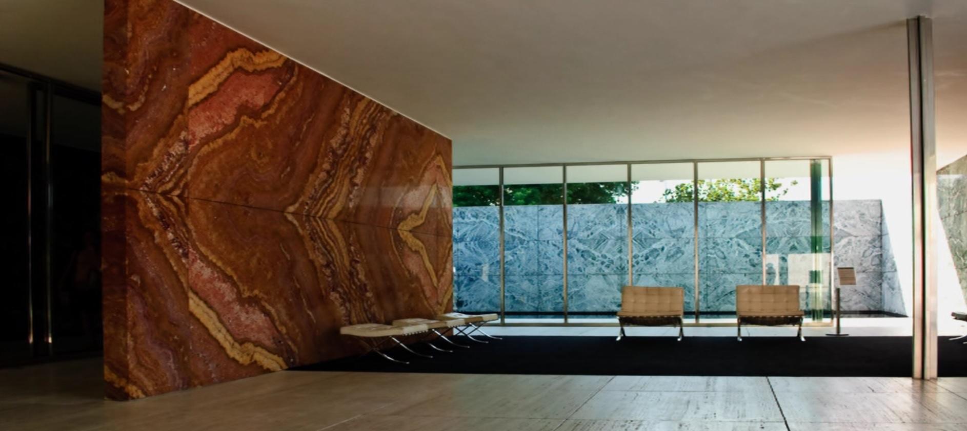Il padiglione a barcellona di mies van der rohe idea for Bel design della casa