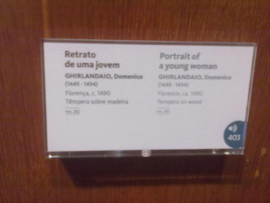 Museu Calouste Gulbenkian ; la pittura targa di cui sopra