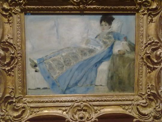 P A Renoir ritratto della signora Monet; Il figlio di Renoir, Jan fu validissimo regista cinematografico ( vedi ne :' il testamento del mostro'/ 'Le testament du Docteur Cordelier', libera rivisitazione dell'opera letteraria di :'  (Strange Case of Dr Jekyll and Mr Hyde, 1886' / ' lo strano caso del Dr Jekyll e Mr Hyde' di Louis Stevenson.