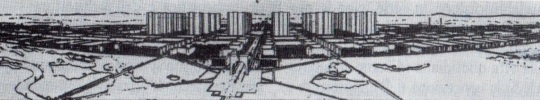 Progetto del 1922 di   Le Corbusier di una città nuova ; si confronti questo progetto del 1922 con quello realizzato da Oscar Niemeyer e Lucio Costa nel 1960 costruendo, ex novo, la città capitale di Brasilia ! Sorprendenti affinità benché si sia lontani nel tempo e nello spazio.