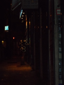Una Lisbona notturna; un poco annoiata, curiosa, sospettosa e... ambigua .