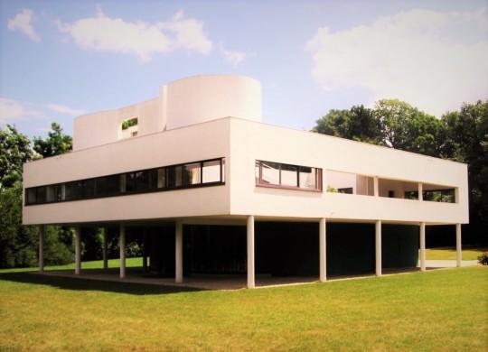 Villa Savoye di Le Corbusier. Poissy 1931 cfr con l'immagine qui subito sopra