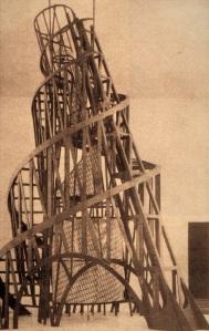 Wladimir Tatlin  Владимир  Татлин Monumento alla Terza Internazionale 1920, Progetto rimasto sulla carta come tutti i tentativi di allora un certo spessore artistico...