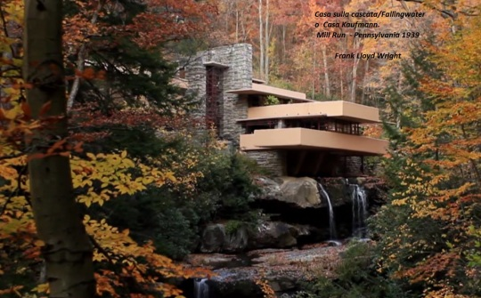 Frank Lloyd Wright; un simbolico eremo del 1939, non a caso costruito allo scoppio del secondo grande conflitto...