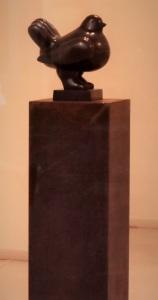 la Paloma di Fernando Botero in  versione casalinga. Non quella posta presso l'aeroporto di Firenze Peretola.