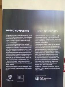 Museo Novecento Firenze , piazza santa Maria Novella