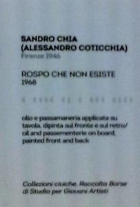 Transavanguardia Sandro Chia Alessandro Coticchia Rospo che non esiste Didascalia di quanto sopra.