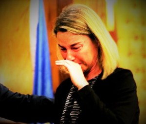 No woman no cry ; Federica Mogherini European Foreign Minister