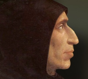 Girolamo Savonarola priore del Convento di San Marco a Firenze del XV° secolo.
