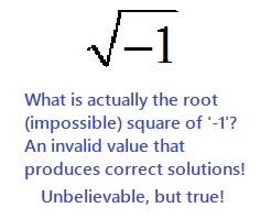 La radice impossibile di -1