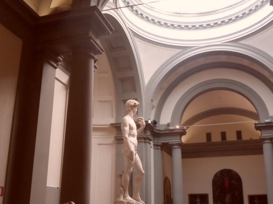 Galleria dell'Accademia                 David            -Firenze- . Un mio personale omaggio