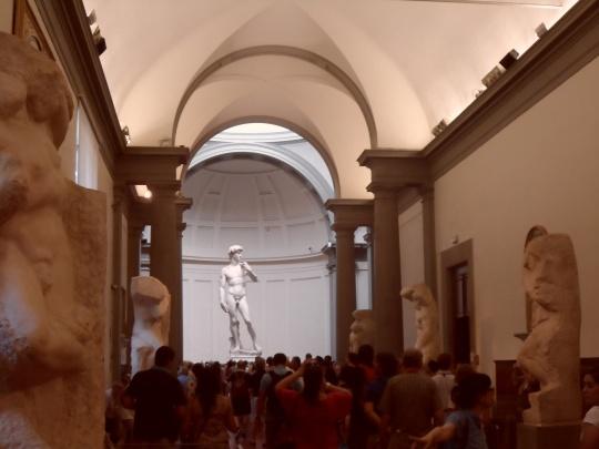 Galleria dell'Accademia                 interno            -Firenze-