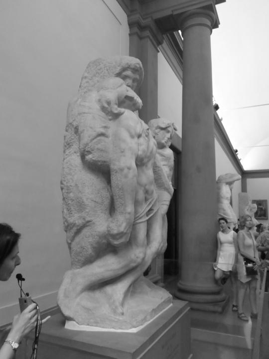Michelangelo      Buonarroti      Pietà da Palestrina      profilo       Galleria dell'Accademia    - Firenze  -
