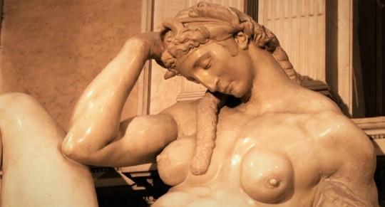 Michelangelo notte; le due gentili signorine!
