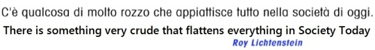 Roy Lichtestein, Statement