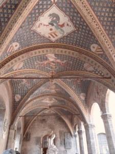 Volta a crociera della Loggia del Verone del Bargello. Sulle sue mura prospicienti il cortile interno, fu eseguita la sentenza di 'Bernardo di Bandino Baroncelli'.