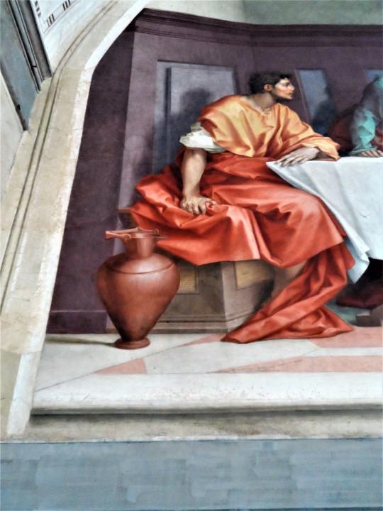 Cenacolo di Andrea del Sarto nel Museo ex refettorio presso la Chiesa di San Michele a San Salvi Firenze particolari degli Apostoli