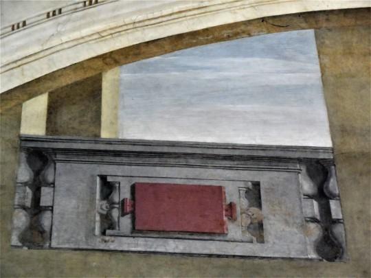 Cenacolo di Andrea del Sarto nel Museo ex refettorio presso la Chiesa di San Michele a San Salvi Firenze particolare architettonico