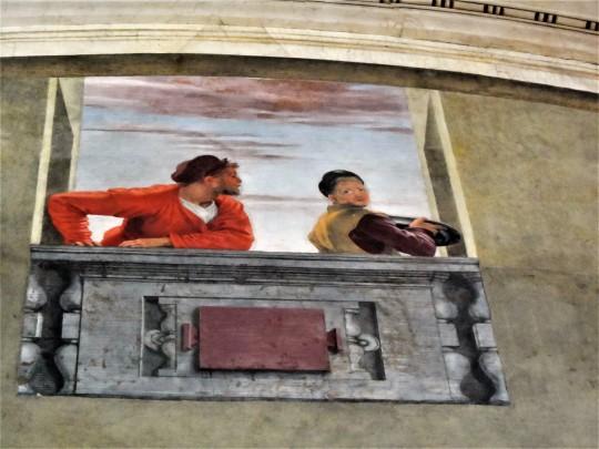 Cenacolo  di Andrea del Sarto  nel Museo ex refettorio presso  la Chiesa di San Michele a San Salvi Firenze  particolare;  autoritratto,  a sinistra di chi guarda            dell Autore