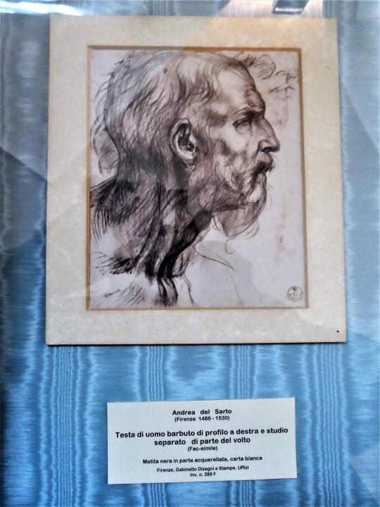 Disegno presso Cenacolo di Andrea del Sarto nel Museo ex refettorio presso la Chiesa di San Michele a San Salvi Firenze a
