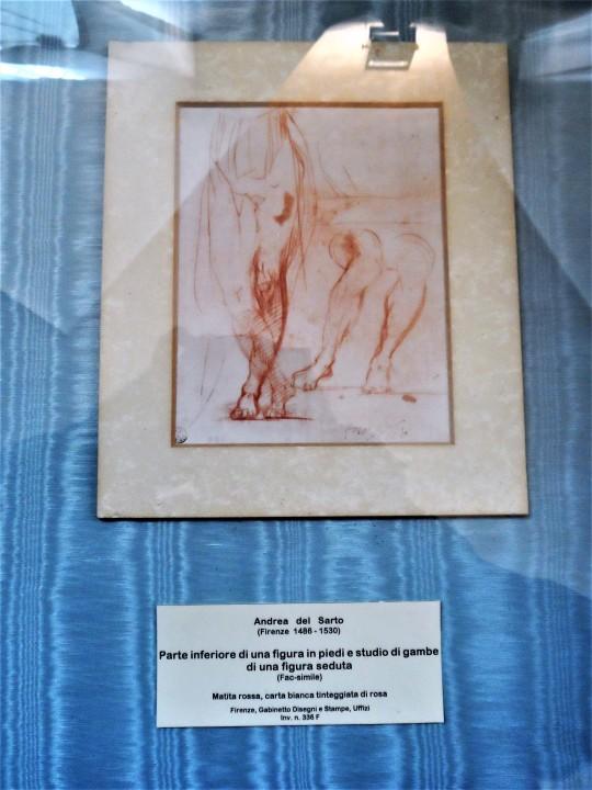 Disegno presso Cenacolo di Andrea del Sarto nel Museo ex refettorio presso la Chiesa di San Michele a San Salvi Firenze