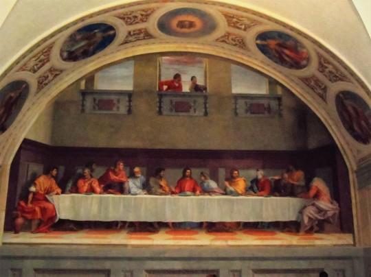 Il Cenacolo di Andrea                          del Sarto presso il Refettorio dell'abbazia vallombrosana , Chiesa di San Michele a San Salvi - Firenze - .