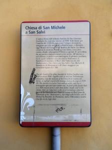 Chiesa di San Michele a San Salvi ( Firenze)          Didascalia.