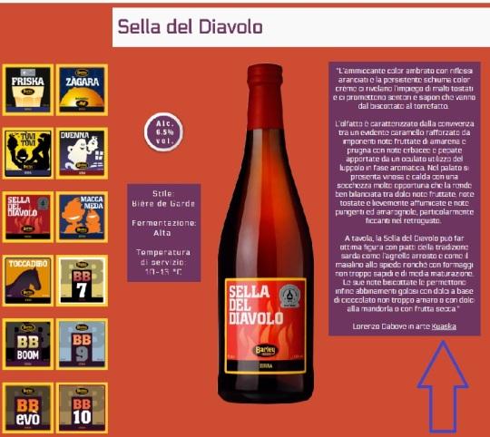 Kuaska, alias Lorenzo Da Bove; qui 'referente' della birra sarda:' :'sella del diavolo' del birrificio :' Barley'