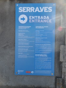 Museo Serralves   Porto Portogallo nota didascalica