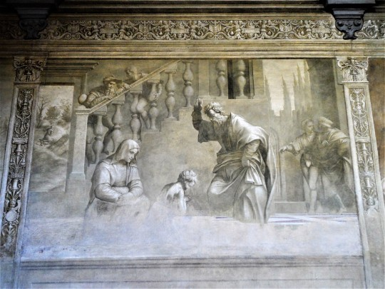 Decorazione Chiostro dello Scalzo di Andrea del Sarto  5/16 Benedizione di S Giovannino