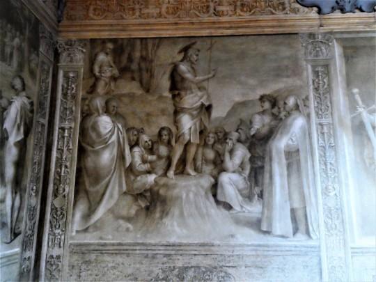 Decorazione Chiostro dello Scalzo  di Andrea del Sarto 10/16     Predica del Battista