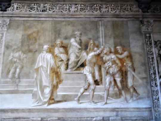 Decorazione Chiostro dello Scalzo  di Andrea del Sarto 12/16 Cattura del Battista