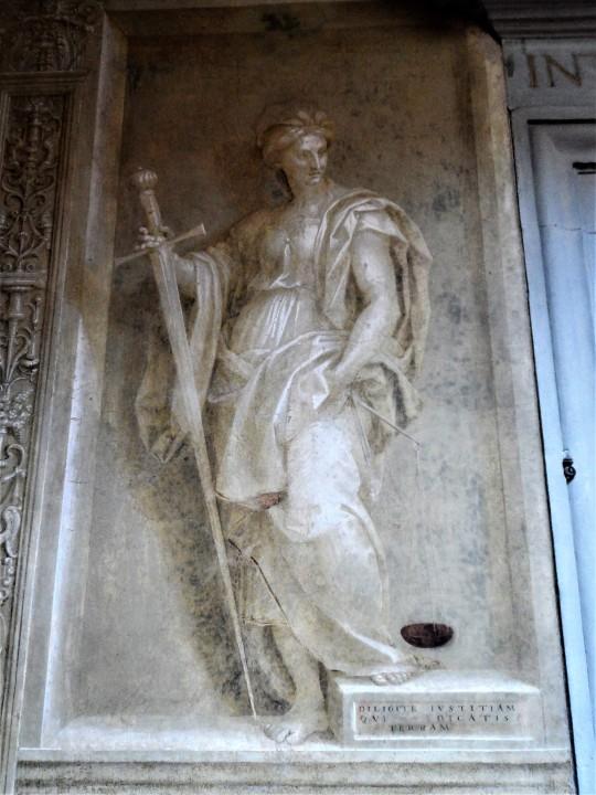 Decorazione Chiostro dello Scalzo  di Andrea del Sarto 9/16           Giustizia