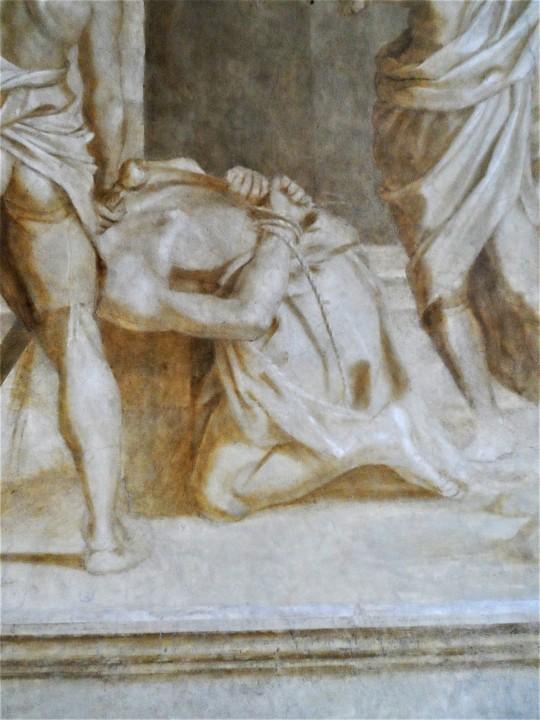 Decollazione del Battista particolare