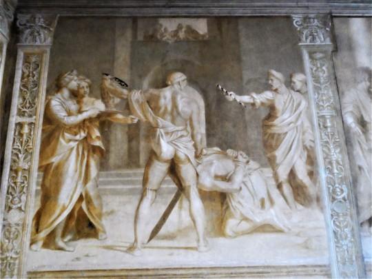 Decorazione Chiostro dello Scalzo  di Andrea del Sarto 14/16 Decollazione del Battista