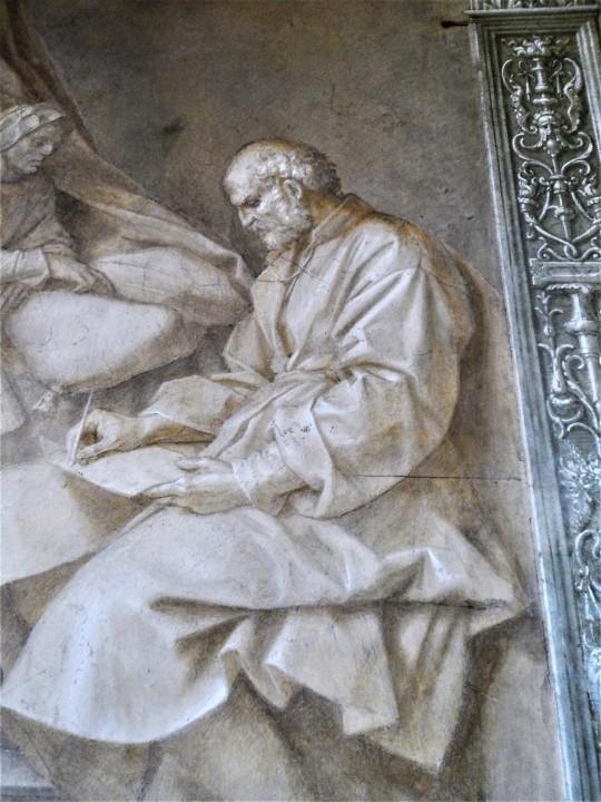 Imposizione del nome            al Battista particolare