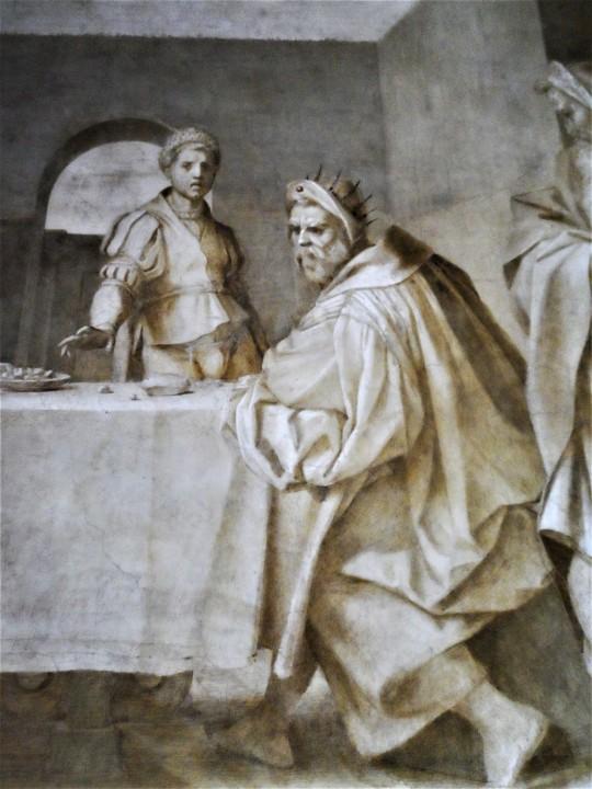Presentazione della testa del Battista  particolare
