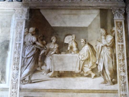 Decorazione Chiostro dello Scalzo  di Andrea del Sarto 15/16 Presentazione della testa del Battista
