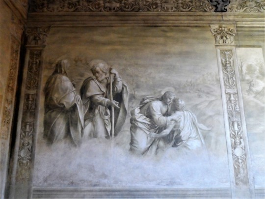 Decorazione Chiostro          dello Scalzo  di Andrea del Sarto  6/16  Incontro di Cristo e S            Giovannino