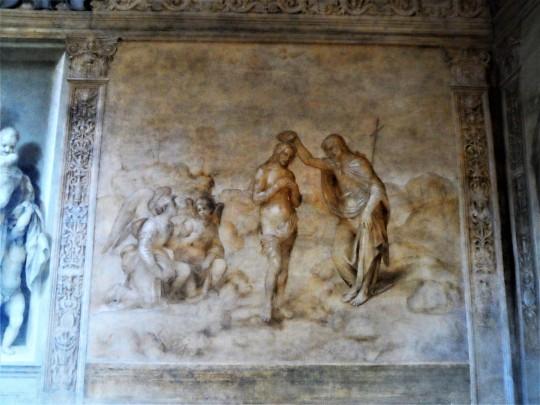 Decorazione Chiostro dello Scalzo  di Andrea del Sarto 7/16 Battesimo di Cristo