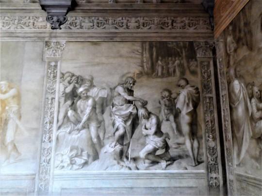 Decorazione Chiostro dello Scalzo  di Andrea del Sarto 11/16           Battesimo delle           moltitudini